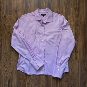 Ladies fitted Lands End 14 button up shirt EUC